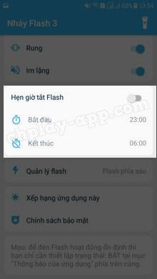 ứng dụng nháy đèn flash 3