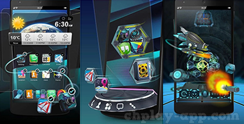 giao dien 3d apk - Next Launcher 3D Shell download
