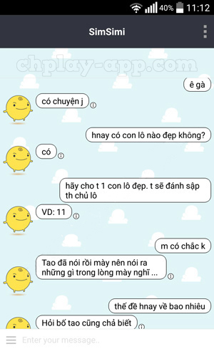 Tải Simsimi Tiếng Việt – Cùng trò chuyện,chat,nhắn tin với Gà Con