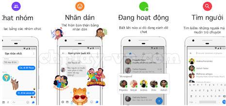 tính năng của ứng dụng messenger lite