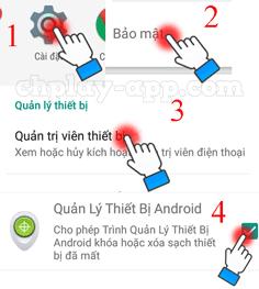 cách định vị điện thoại android