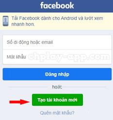 tạo tài khoản facebook mới