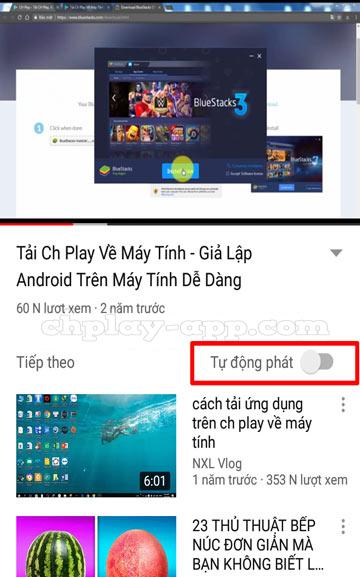 mẹo hay khi dùng youtube - tắt tính năng tự động phát video