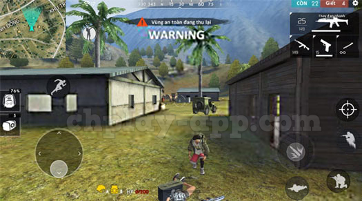 cảnh báo vùng an toàn trong game garena free fire