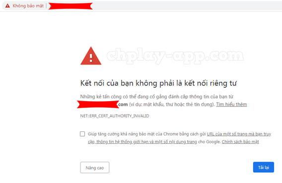 chrome bảo vệ máy tính khỏi trang web độc hại