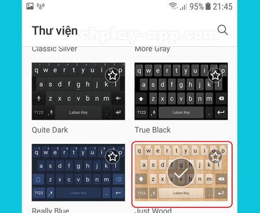 chọn định dạng bàn phím laban key